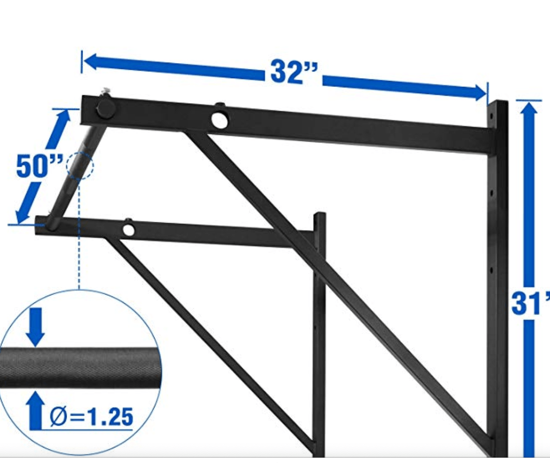 Pull up bar measurements