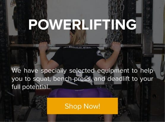 Powerlifting - We have specially selected equipment to help you to squat, bench press, and deadlift to your full potential.