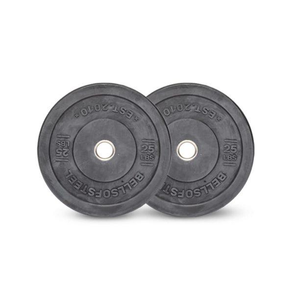 Dead Bounce All Black Bumper Plates Set of 25 lbs
