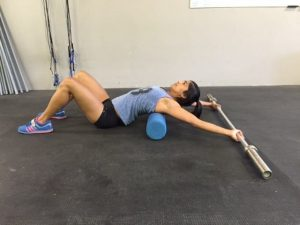 Thoracic Extention with Barbell