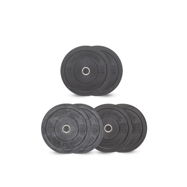 Dead Bounce All Black Bumper Plates set of 160 lbs