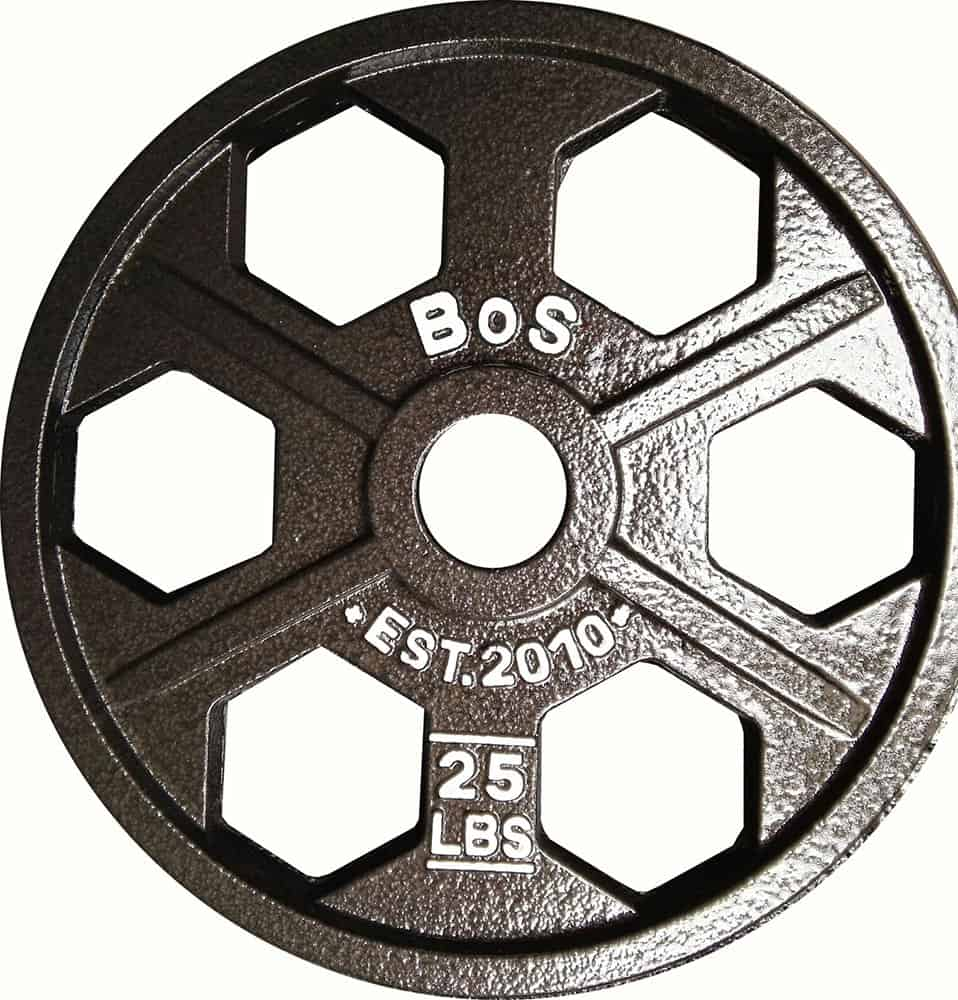 35lb Hex Olympic Weight Plates - Black- By B.o.S.