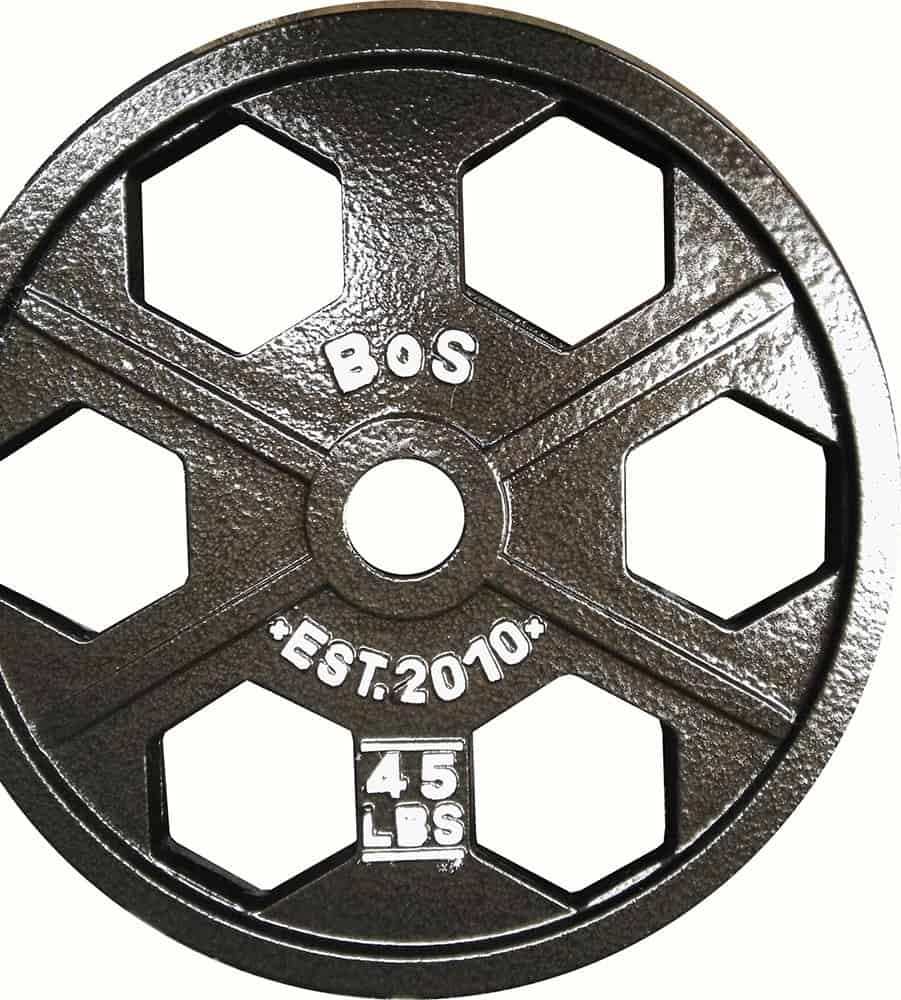 Hex Olympic Weight Plates - Black- By B.o.S.