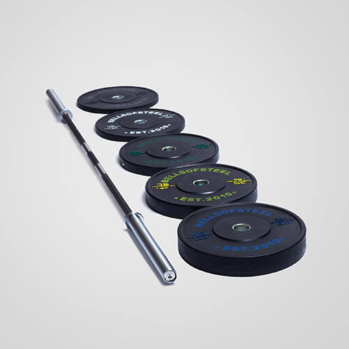 bumper plate and barbell package