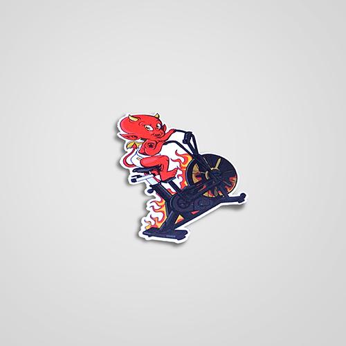 Red Devil Blitz Air bike Sticker