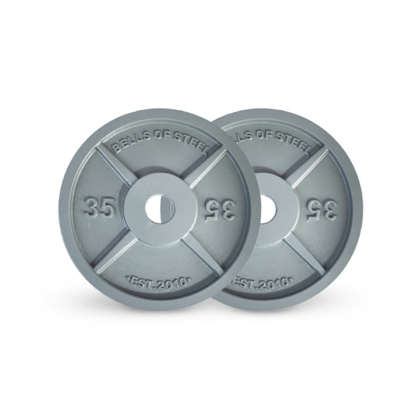 Machined Iron Plates Set of 35 lbs