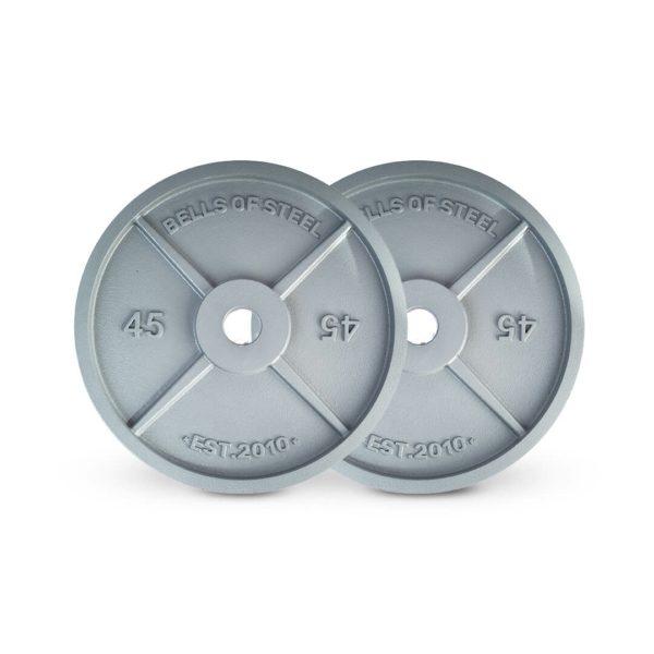 Machined Iron Plates set of 45 lbs