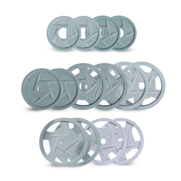 Machined iron plates set of 477.5 lbs